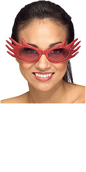 Red Glitter Flame Glasses