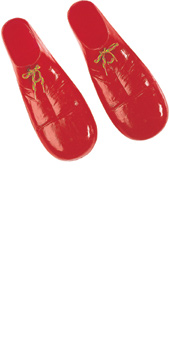 Red Plastic Clown Shoes