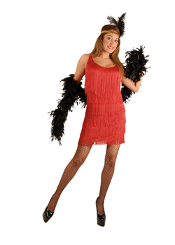 Red Plus Size Fashion Flapper Costume