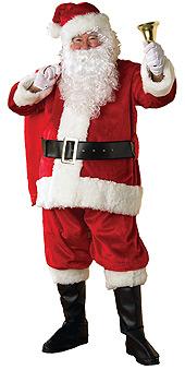 Regency Deluxe 6pce Plush Santa Suit Costume
