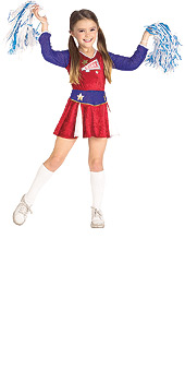 Retro Cheerleader Child Costume