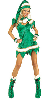 Sassy Green Elf Costume