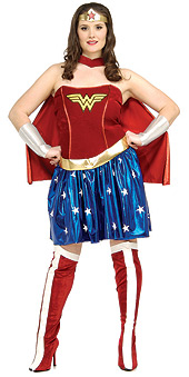Secret Wishes Full Figure Wonder Woman Deluxe Costume