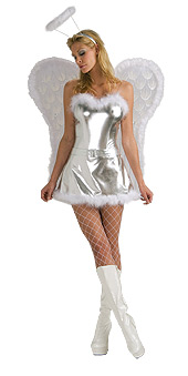 Sexy Silver Angel Costume