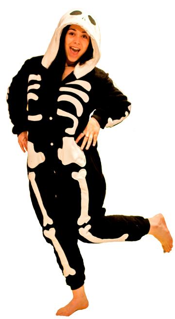 Skeleton Onesie Adult Costume
