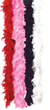 Solid Red Feather Boa