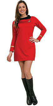 Star Trek Classic Deluxe Red Dress Uhura Costume - SECONDS STOCK