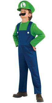 Super Mario Bros Child Luigi Costume