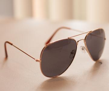 Top Gun Gold Frame Aviator Sunglasses