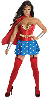 Wonder Woman Corset Adult Costume