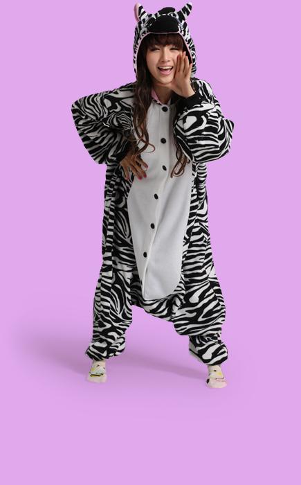 Zebra Adult Onesie Costume