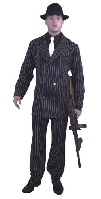 6 Button Gangster Suit Plus Size Costume