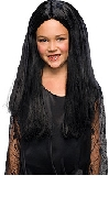 Addams Family Morticia Child Wig