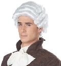 Adult White Colonial Man Wig