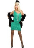 Aqua Plus Size Fashion Flapper Costume