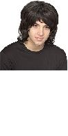 Black 70s Shag Wig