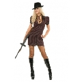 Black and Red Double Zip Gangster Moll Costume