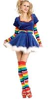 Bright Rainbow Girl Costume