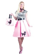 Bubble Gum Pink Poodle Dress Costume