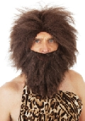 Bushy Caveman Wig and Beard Set