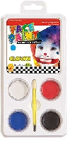 Clown Face Paint Palette