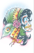 Day of The Dead Lady Gitanos Temporary Tattoo