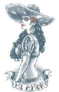 Day of The Dead Mi Amor Temporary Tattoo