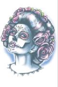 Day of The Dead Senora Muerte Temporary Tattoo