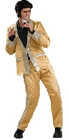 Elvis Deluxe Satin Gold Suit Costume