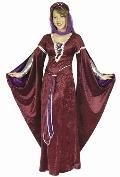 Enchantress of Camellot Burgundy Costume