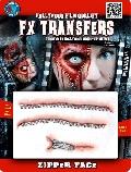 FX 3D transfer Zipper Face Wounds