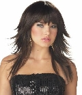Feathered and Flirty Wig Brunette