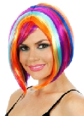 Glamour Long Bob Rainbow Wig
