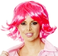 Grease Pink Bob Frenchie Wig