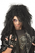 Heavy Metal Rocker Wig Black