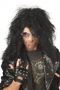 Heavy Metal Rocker Wig Black