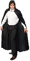 Hooded Full Length Black Cape