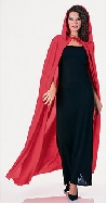 Hooded Full Length Red Cape