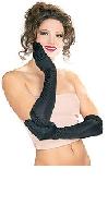 Long Black Nylon Gloves