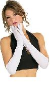 Long White Polyester Gloves