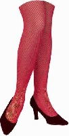 Ms Santa Red Fishnets Adult