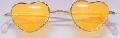 Orange Lens Heart Shaped Glasses
