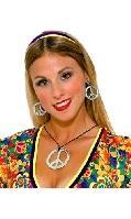 Peace Pendant and Earring Set