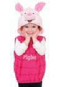 Piglet Plush Hooded Costume