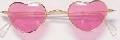Pink Lens Heart Shaped Glasses