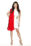 Red Toga Woman Costume