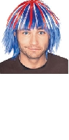Red White and Blue Wig