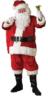 Regency Deluxe 6pce Plush Santa Suit Costume