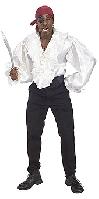 Satin Pirate Shirt White