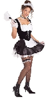 Secret Wishes Satin French Maid Costume